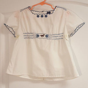 Baby GAP Horse Embroidered Blouse 4 years